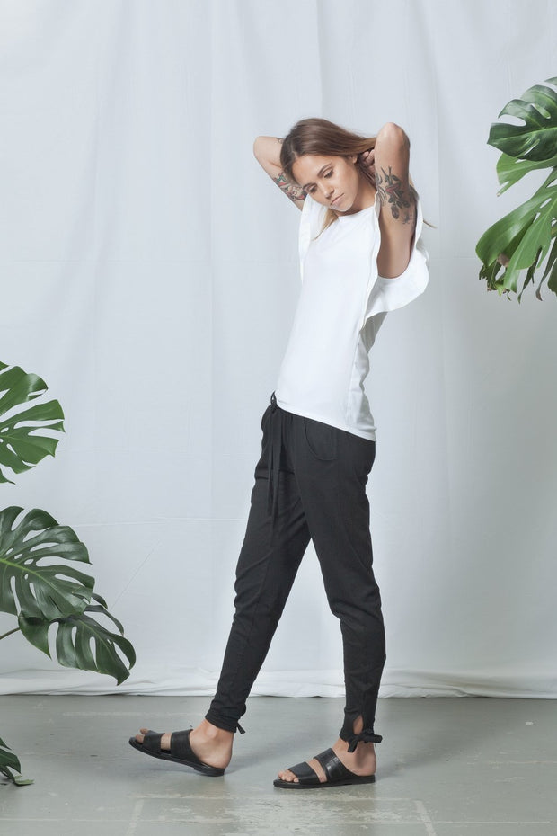Flutter Top | White - ReCreate | Ecoture