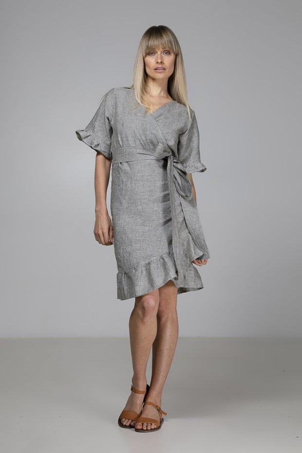 Isla Wrap Dress | Green - Indecisive | Ecoture