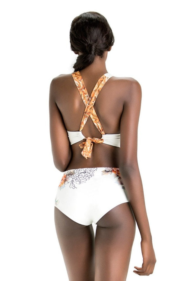 Julia Crossed Bikini Top | Ivory Tigress - NAJA | Ecoture