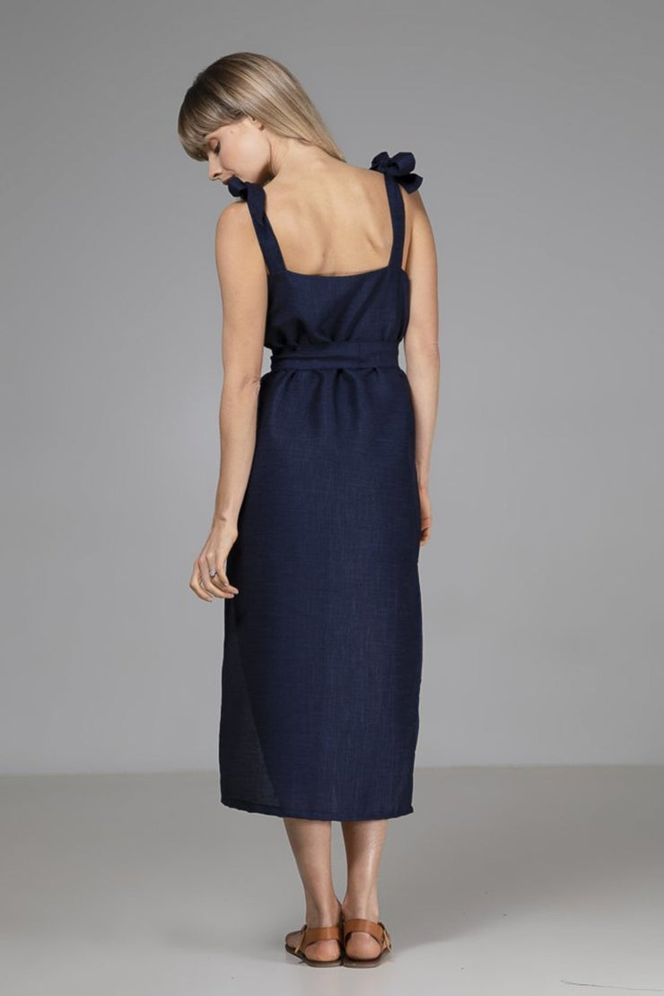 Kimmy Dress | Navy - Indecisive | Ecoture