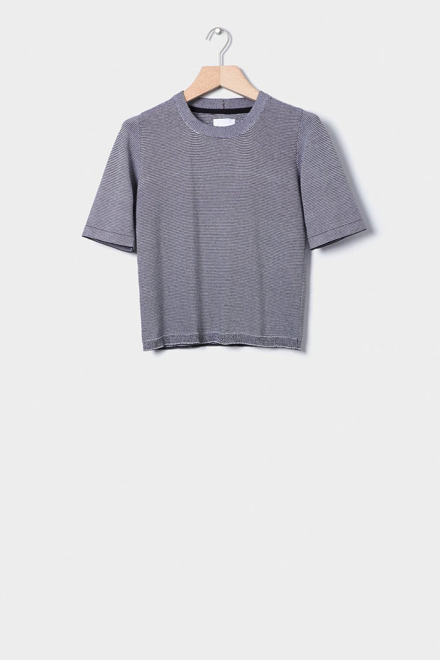 Knitted Tee | Black Stripe - Kowtow | Ecoture
