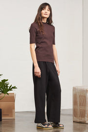 Ladder Rib Top | Chocolate - Kowtow | Ecoture
