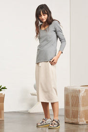 Long-Sleeve Top | Grey Marle - Kowtow | Ecoture