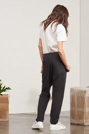 Lounge Pant | Black Marle - Kowtow | Ecoture