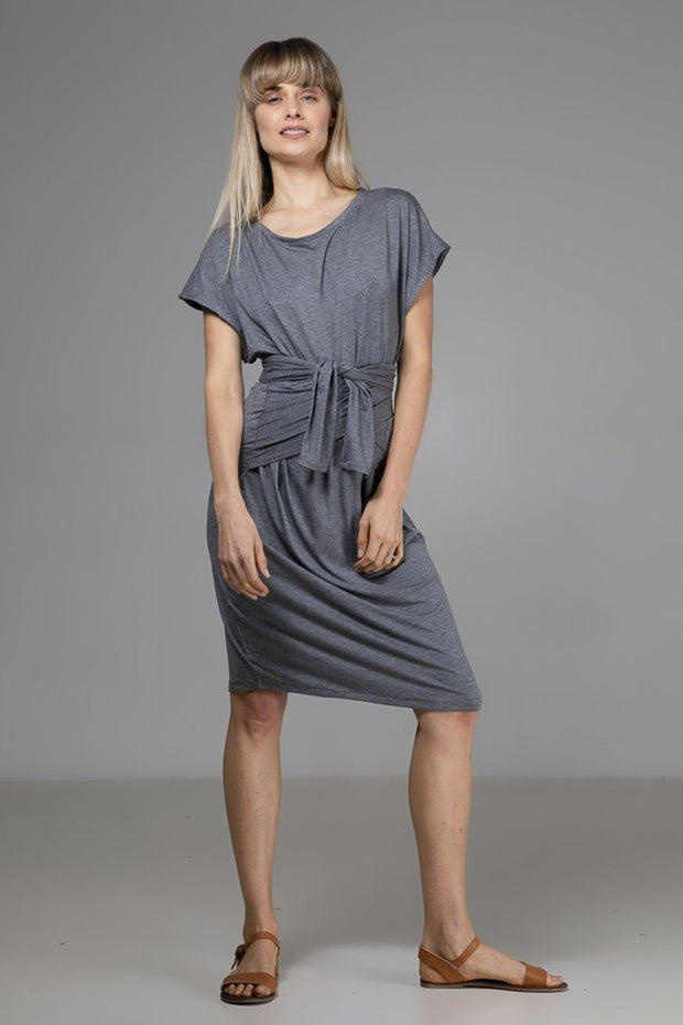 Maya Dress | Dark Grey - Indecisive | Ecoture