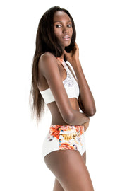 Naomi High-Waisted Bikini Bottoms | Ivory Tigress - NAJA | Ecoture