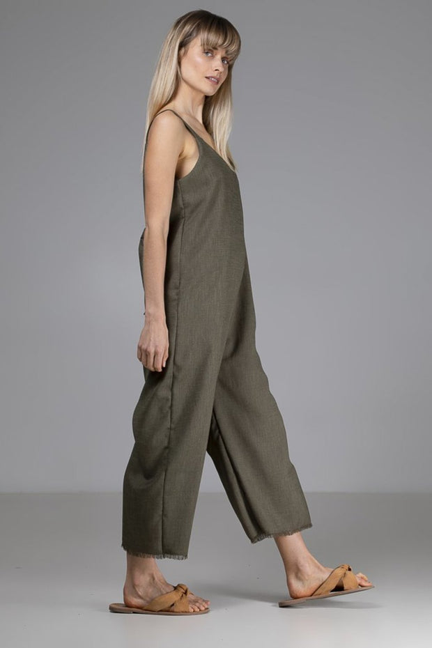 Sadie Jumpsuit | Green - Indecisive | Ecoture