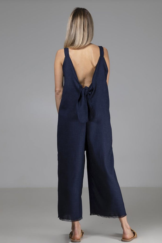 Sadie Jumpsuit | Navy - Indecisive | Ecoture
