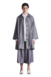 Seafarer Oversized Coat | Chambray - Kowtow | Ecoture