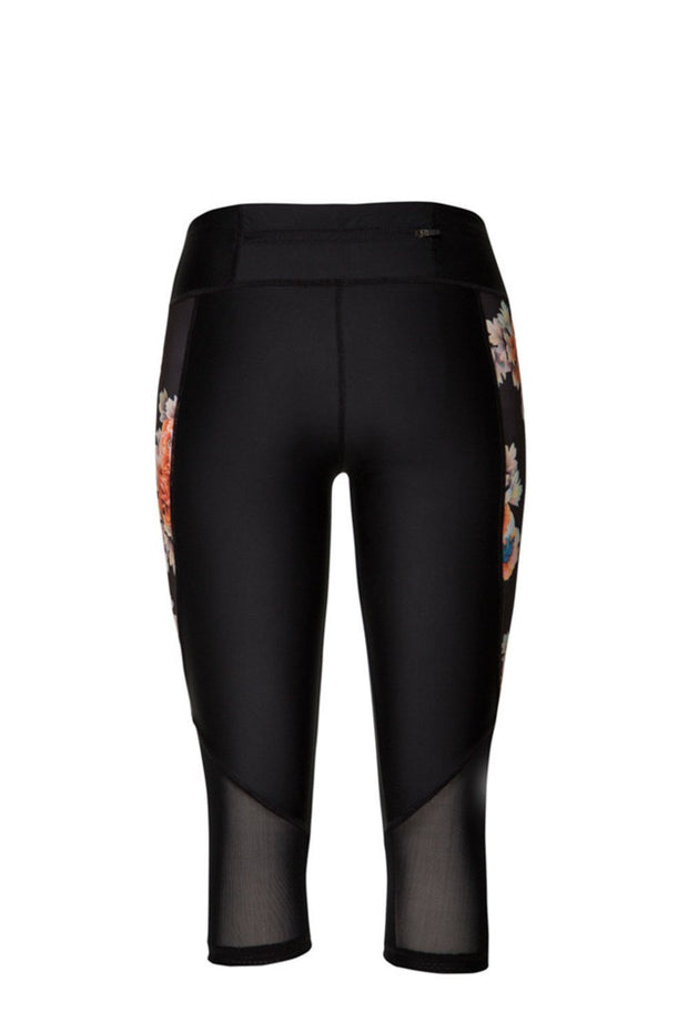 Serena Compression Tights | Black Flowers - NAJA | Ecoture
