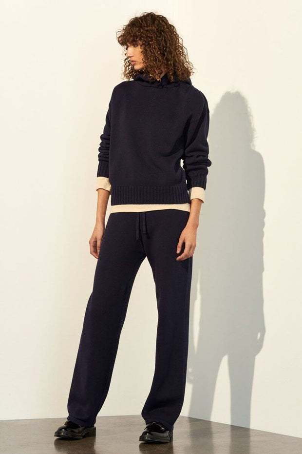 Shuffle Hooded Sweater | Navy - Kowtow | Ecoture