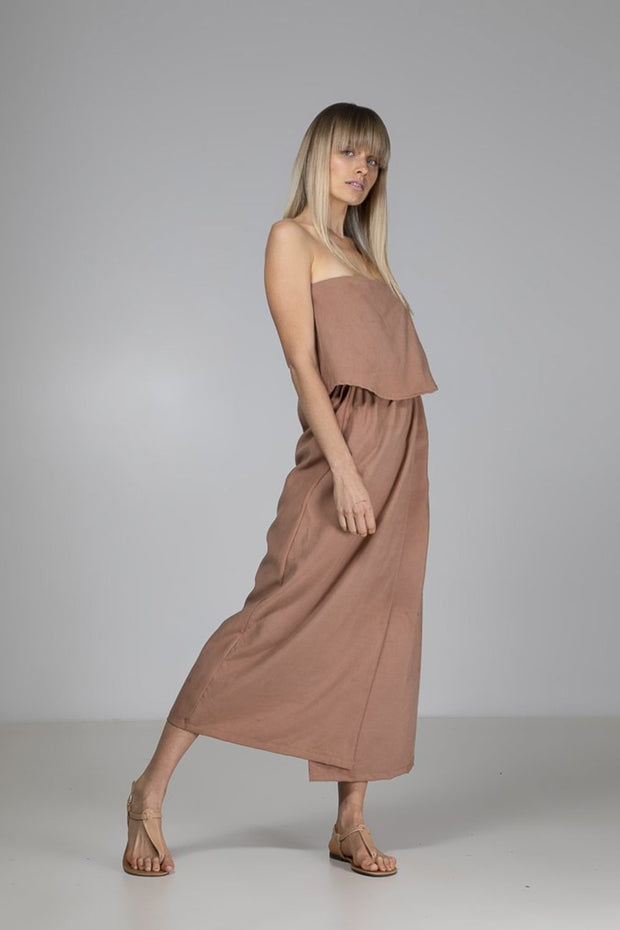 Sophie Wrap Dress | Taupe - Indecisive | Ecoture