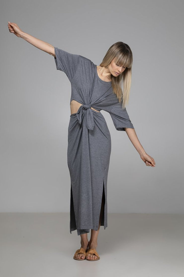 Tash Dress | Grey - Indecisive | Ecoture