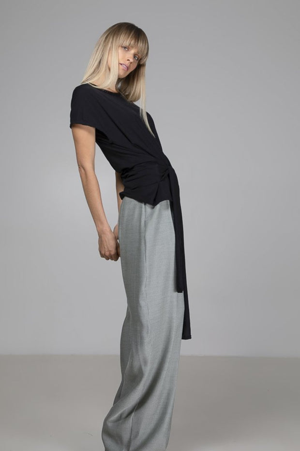 Tie Top | Black - Indecisive | Ecoture