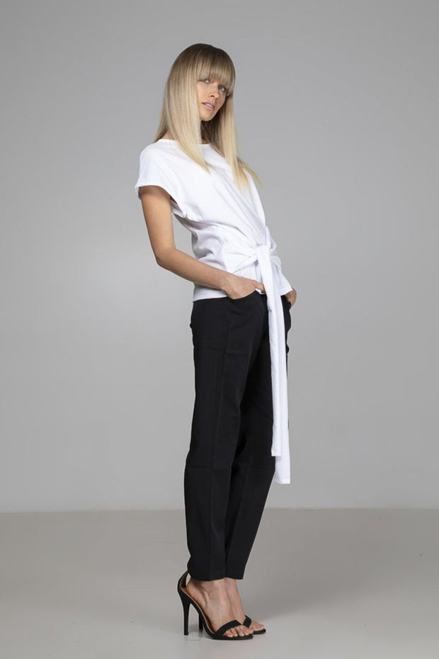 Tie Top | White - Indecisive | Ecoture