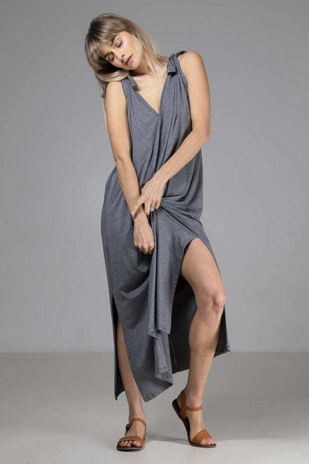 Vicky Dress | Grey - Indecisive | Ecoture