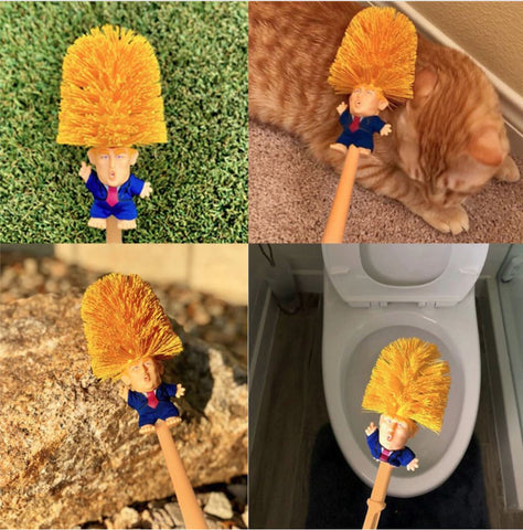 Donald Trump Toilet Brush Bowl Cleaner Best Gift For Americans