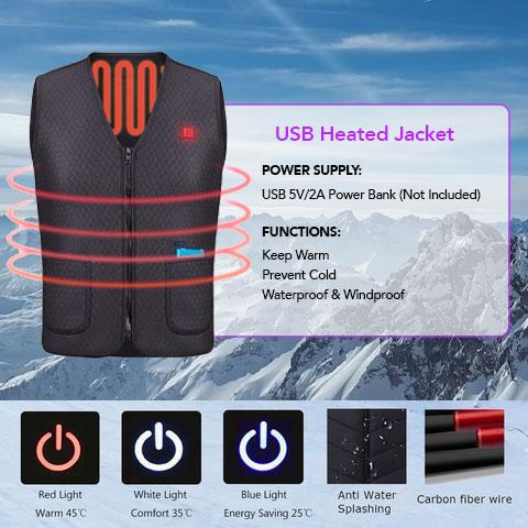 Electric Heated Vest For Men Women Battery Heated For Hunting Motorcycle