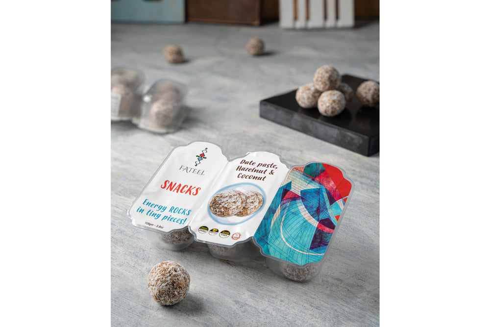 Healthy & Energy Snacks (Grab and Go)  Date Paste، Hazelnut & Coconut -      5 Packs