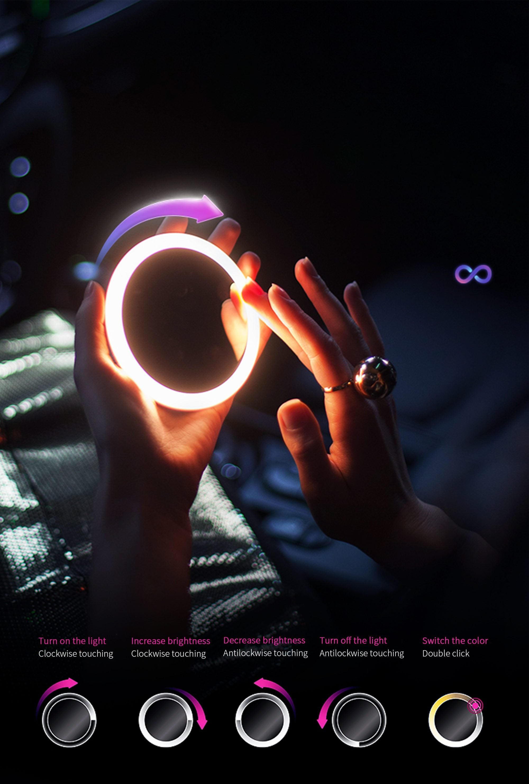 LED Makeup Mirror/Wireless Charger
