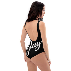 Yes&Yay One-Piece Swimsuit, Black