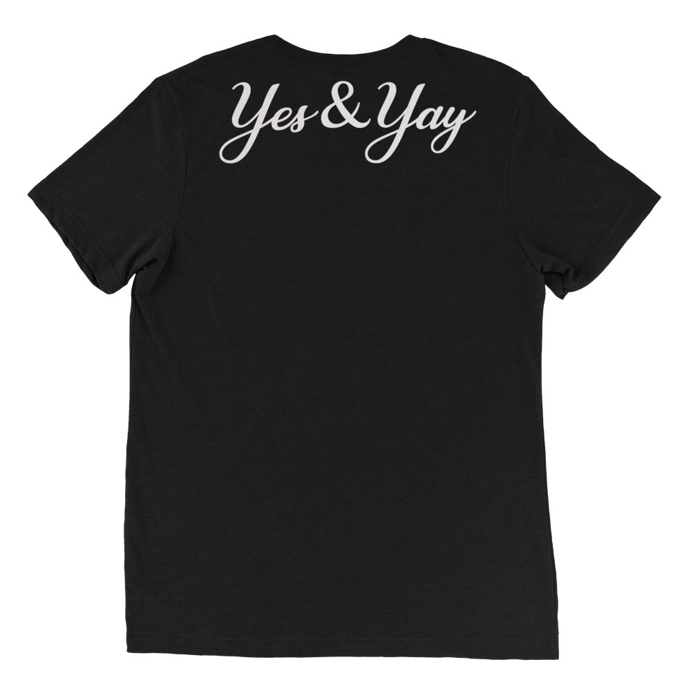 Yes&Yay Black Short Sleeve Unisex Tee