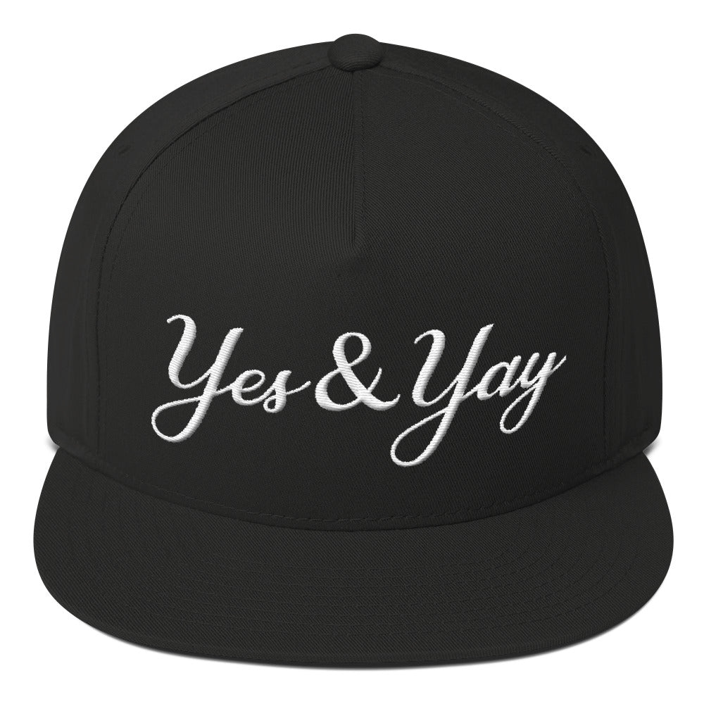 Yes and Yay Flat Bill 5 Panel Cap