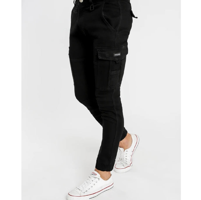 Henleys Men Leon Denim Pants in Black