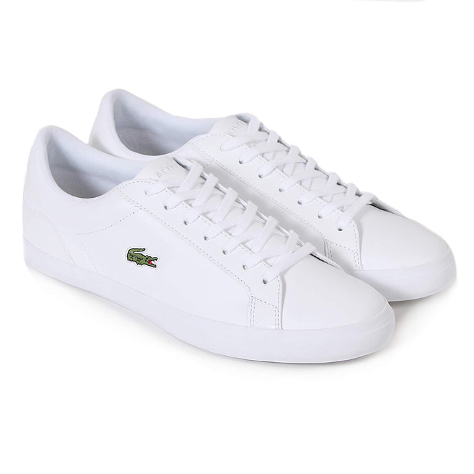 Lacoste Men Lerond BL 1 CAM Leather/ Synthetic Shoes in White