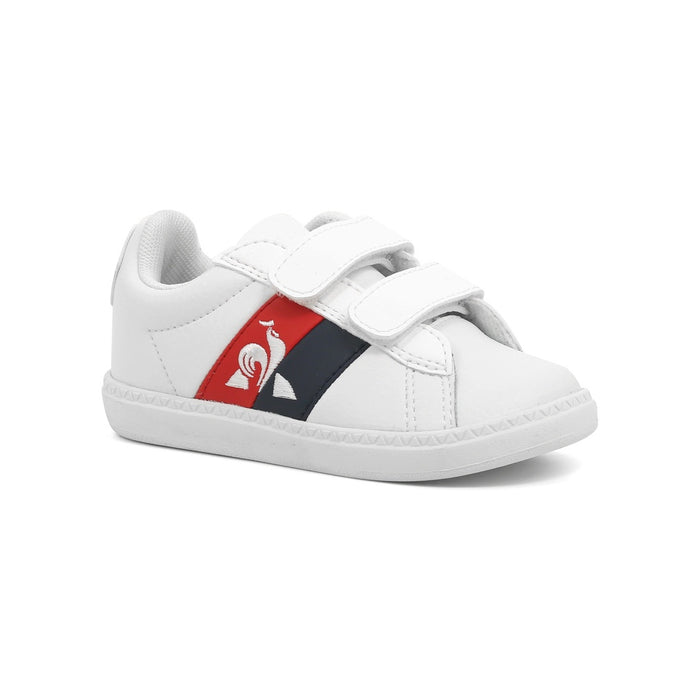Le Coq Sportif Kids Courtclassic INF FLAG Shoes in Optical White