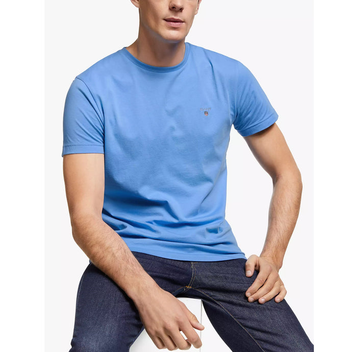 Gant Men Original Solid Tee in Pacific Blue