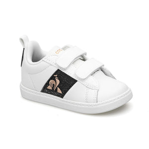 Le Coq Sportif Kids Courtclassic INF Girl Shoes in Optical White / Black