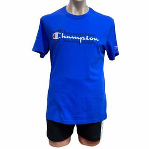 Champion Men Sport Graphic Print Tee in Blue