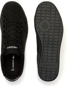 Lacoste Men Carnaby Evo 319 6 SMA Suede Shoes in Black/Black