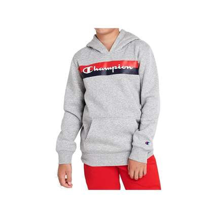 Champion Kids SPS K Graphic Hoodie in Grey