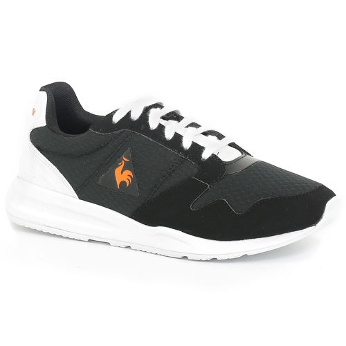Le Coq Sportif Kids Omega X GS Sport Shoes in Black/ Vibrant Orange
