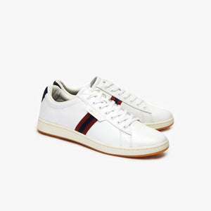 Lacoste Men Carnaby EVO 419 3 SMA Leather Shoes in White/Navy/Red