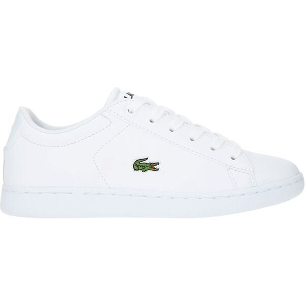 Lacoste Kids Carnaby Evo BL 4 SUC SYN Shoes in White/ White