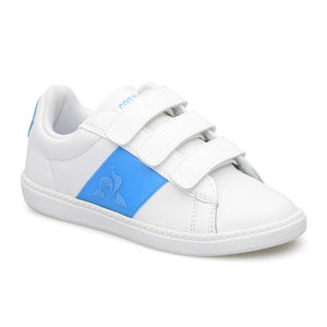 Le Coq Sportif Courtclassic PS Neon in Optical White / Atomic Blue