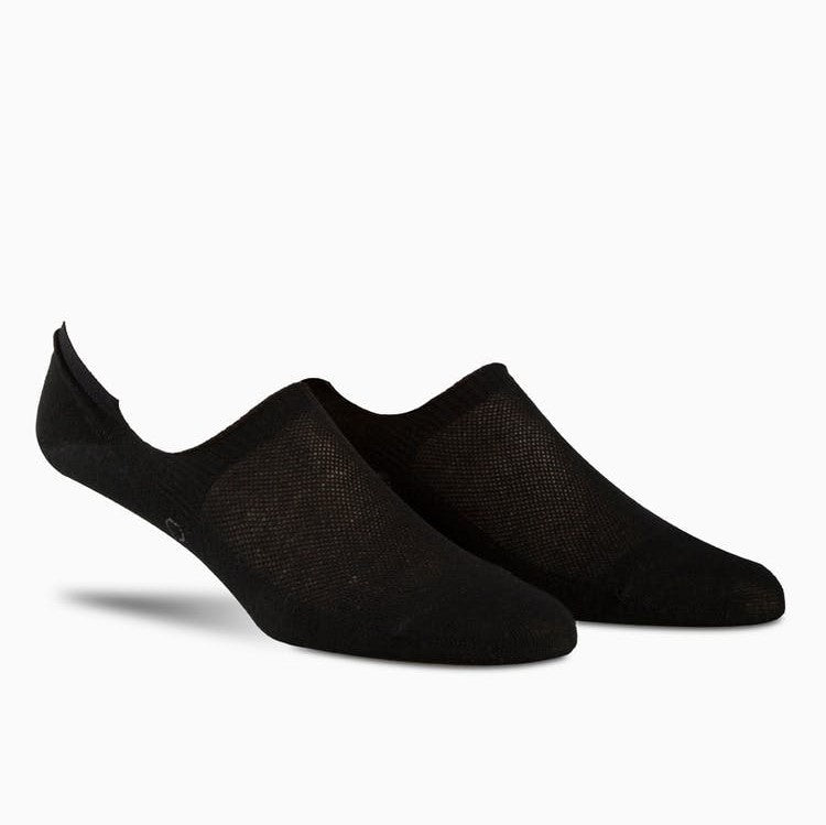 Calvin Klein Men No Show With Non-Slip Heel Socks in Black