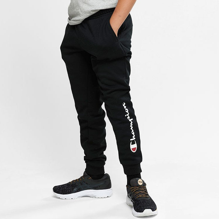 Champion Kids Script Cuff Pants in Black