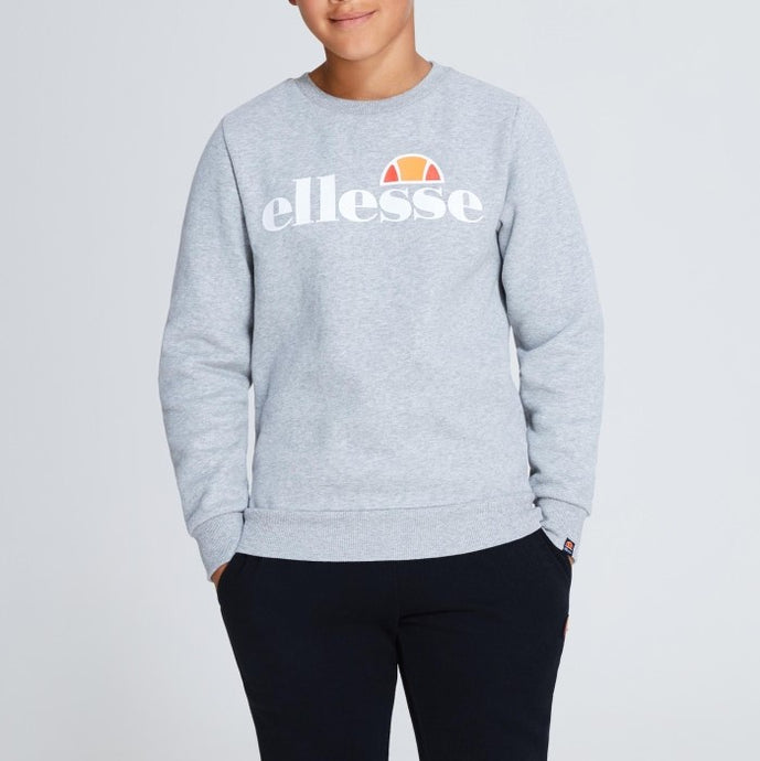 Ellesse Boys Suprios Sweatshirt in Grey Marle