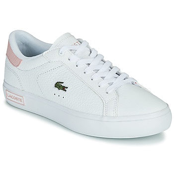 Lacoste Women Powercourt 0721 2 SFA Shoes in White/Light Pink