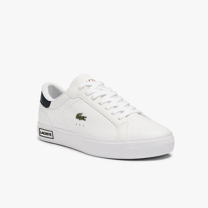 Lacoste Women Powercourt 0721 2 SFA Shoes in White/Navy/Red