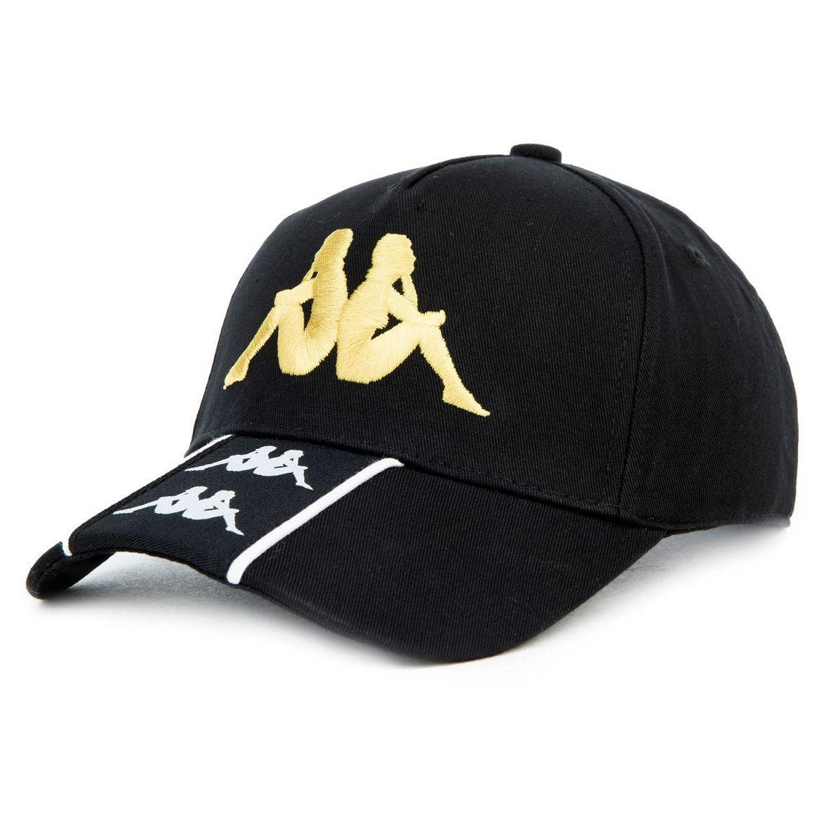 Kappa Men Banda Baset Cap in Black/Gold
