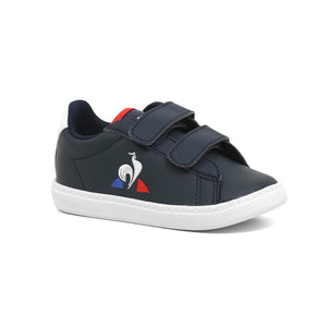 Le Coq Sportif Kids Courtset INF Shoes in Dress Blue/Optical White