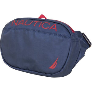 Nautica Men Paneled Bright Belt Bag in Navy/Red