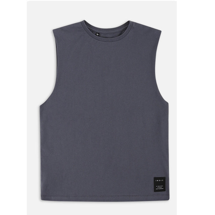 Industrie Kids Indie Muscle Tee in Navy
