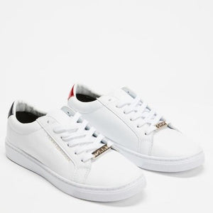 Tommy Hilfiger Women Essential Sneakers in Red/ White/ Black