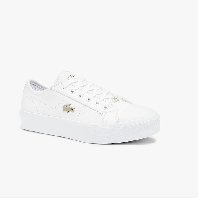 Lacoste Women Ziane Plus Grand 07211CFA Shoes in White/White